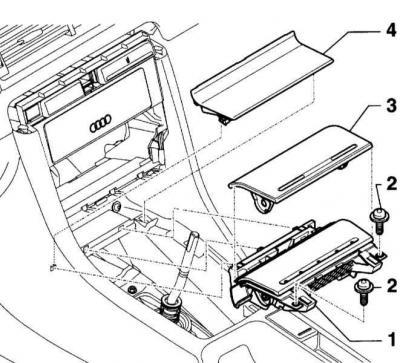 Снятие и установка пепельницы (Ауди А4 Б6, 2000-2006
