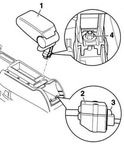 Снятие и установка центрального подлокотника (Ауди А4 Б6