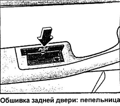 Пепельницы (Ауди А6 С5, 1997-2004, Инструкция по эксплуатации)