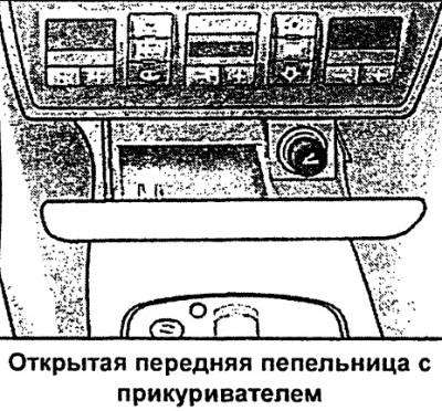Прикуриватель и розетки (Ауди А6 С5, 1997-2004, Инструкция