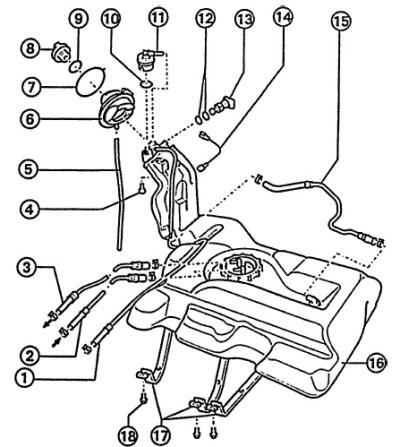 Топливная система автомобиля Ауди А6, модификация С5 (1997