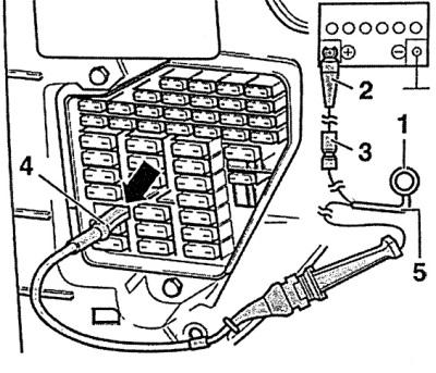 Проверка цепи управления топливного насоса (Ауди А6 С5