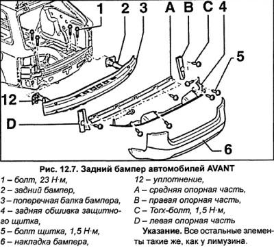 Задний бампер (Ауди А6 С5, 1997-2004, Экстерьер)