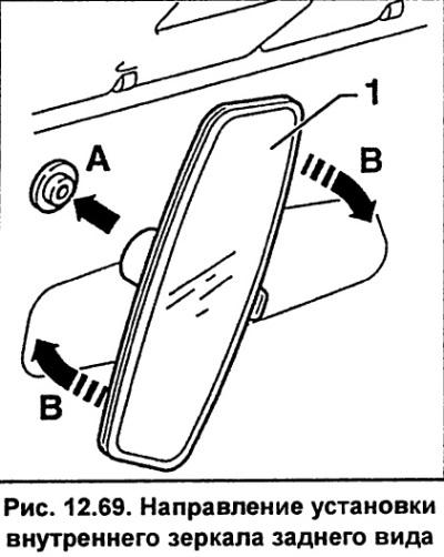 Внутреннее зеркало заднего вида (Ауди А6 С5, 1997-2004