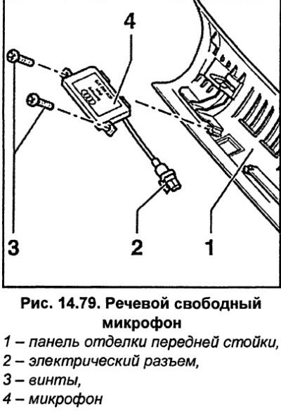 Речевой свободный микрофон (Ауди А6 С5, 1997-2004