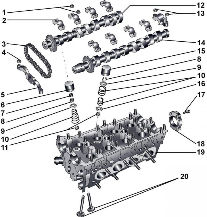 Распределительные валы (Ауди А8 Д2, 1994-2002, Бензиновый