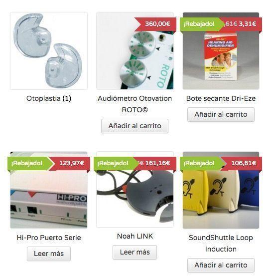 Tienda Online de Excedentes de Audiología