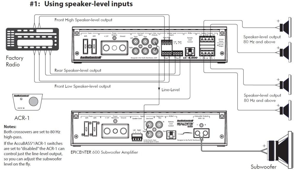 medium resolution of adding sub to factory factory install speaker level inputs