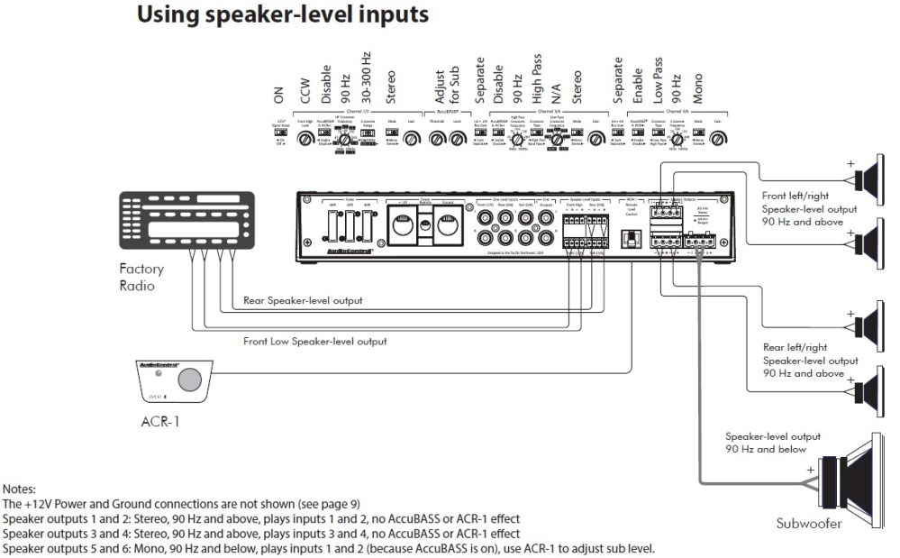 medium resolution of adding sub to factory factory install speaker level inputs