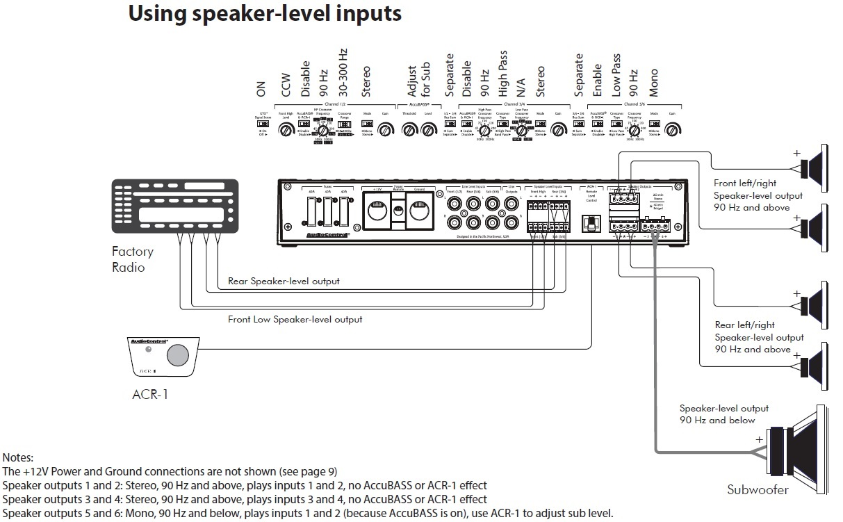 hight resolution of adding sub to factory factory install speaker level inputs