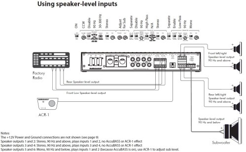 small resolution of adding sub to factory factory install speaker level inputs
