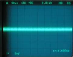 無信号時の出力信号波形(アース無し)横軸拡大