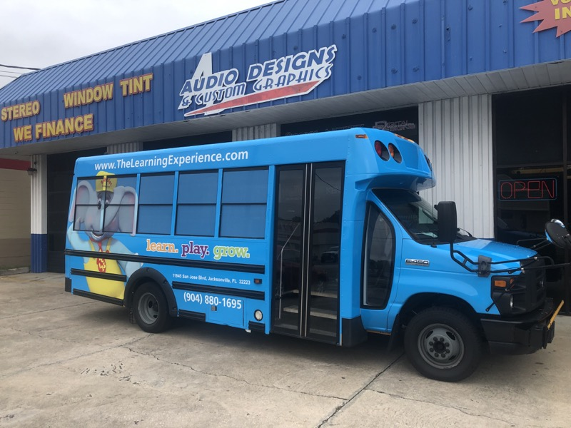 Shuttle Bus Graphics Wrap Car Stereo Audio Designs