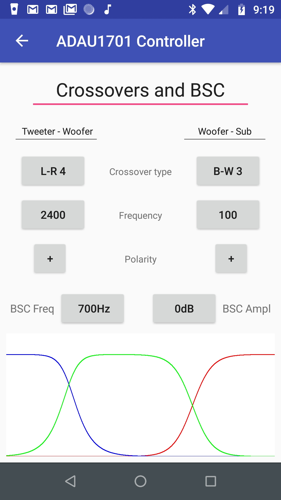 14  Android phone app for controlling the DSP – Audiodevelopers Reborn