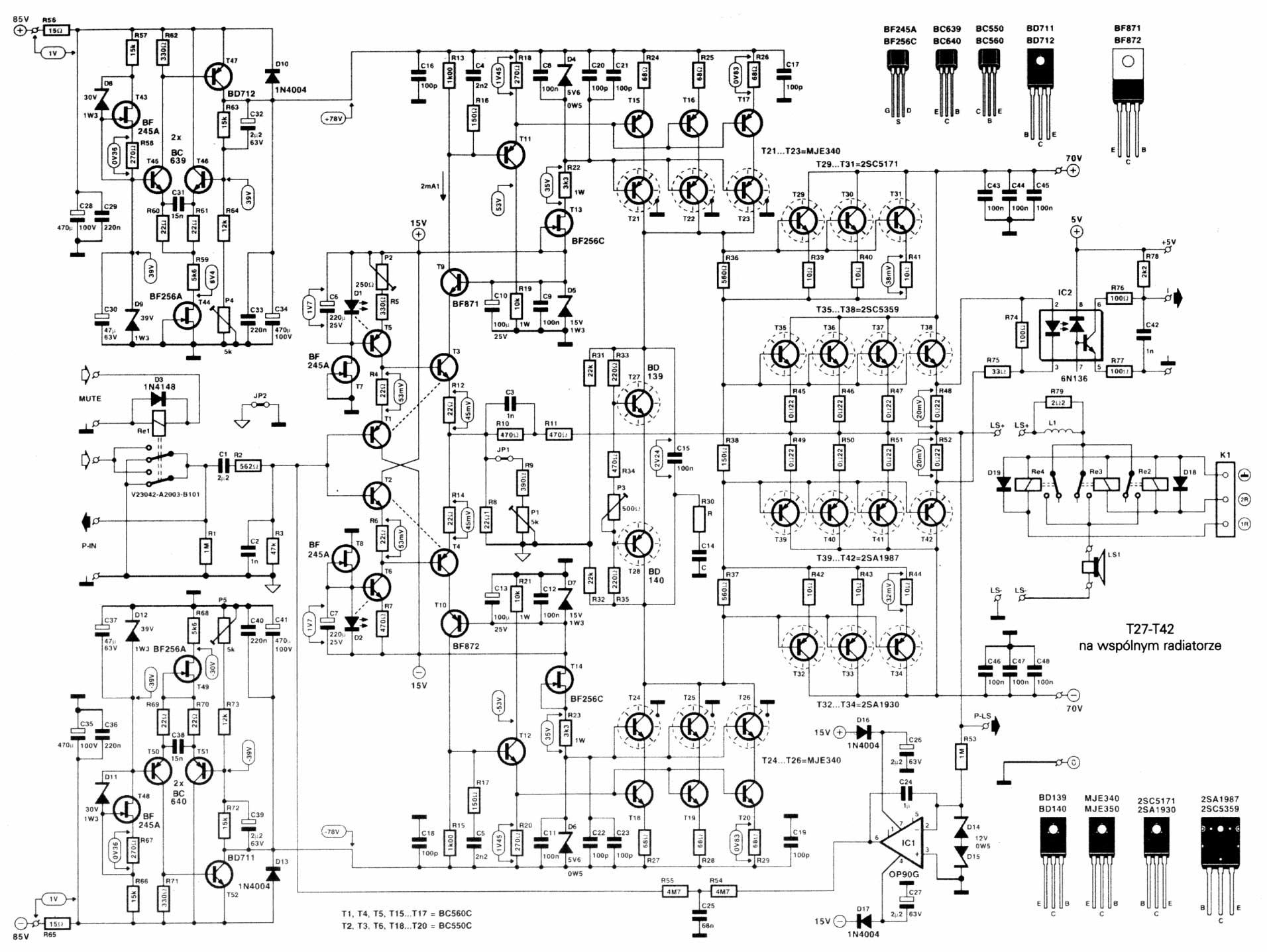 Amplificadores de 250W 500W, 1000W y 1500W RMS