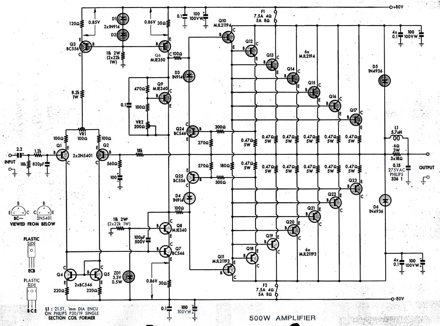 Solucionado Amplificador 800 A W Necesito Diagrama