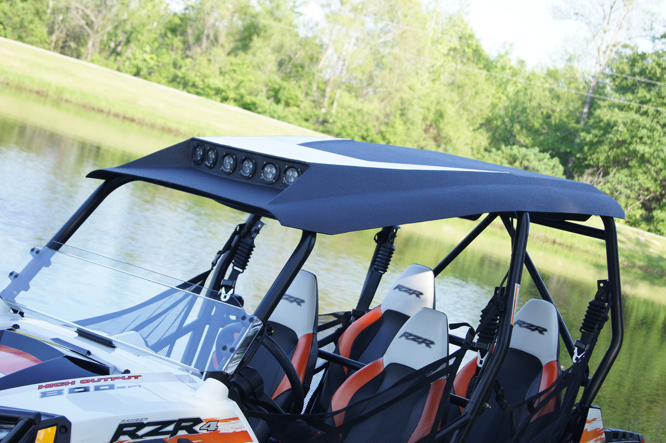 hight resolution of polaris rzr4 800 xp900 roof top stereo systems 2008 2013