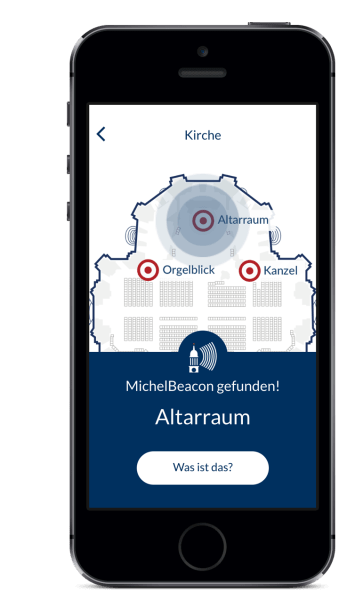 Beacon-Technologie in der MichelApp