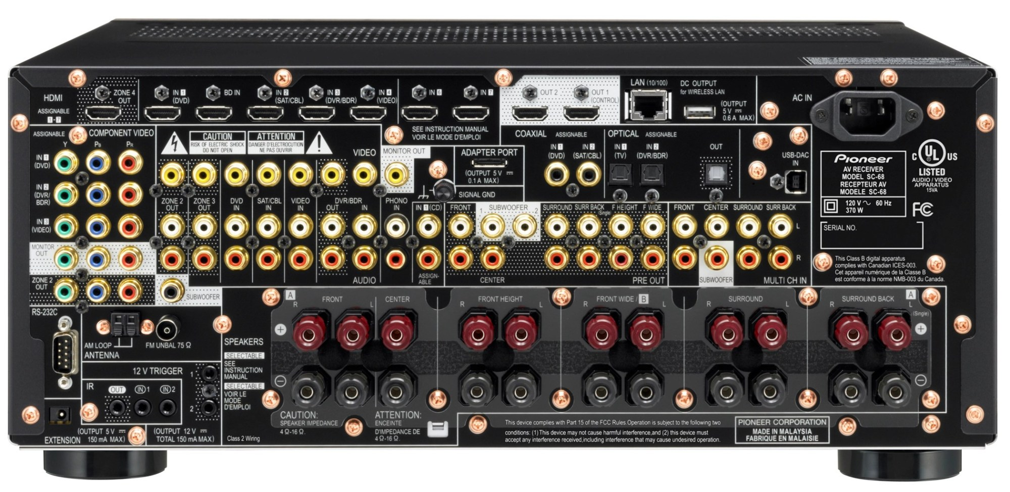 hight resolution of pioneer sc 86 receiver