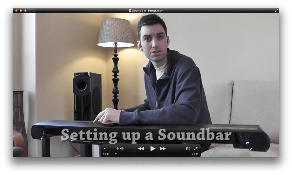 medium resolution of setting up a sound bar