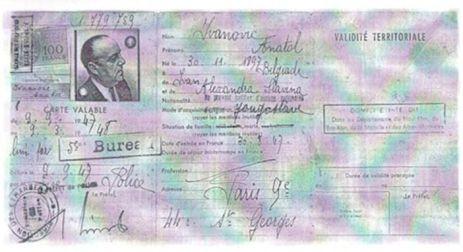 Fotokopija pasoša Anatolija Ivanovića