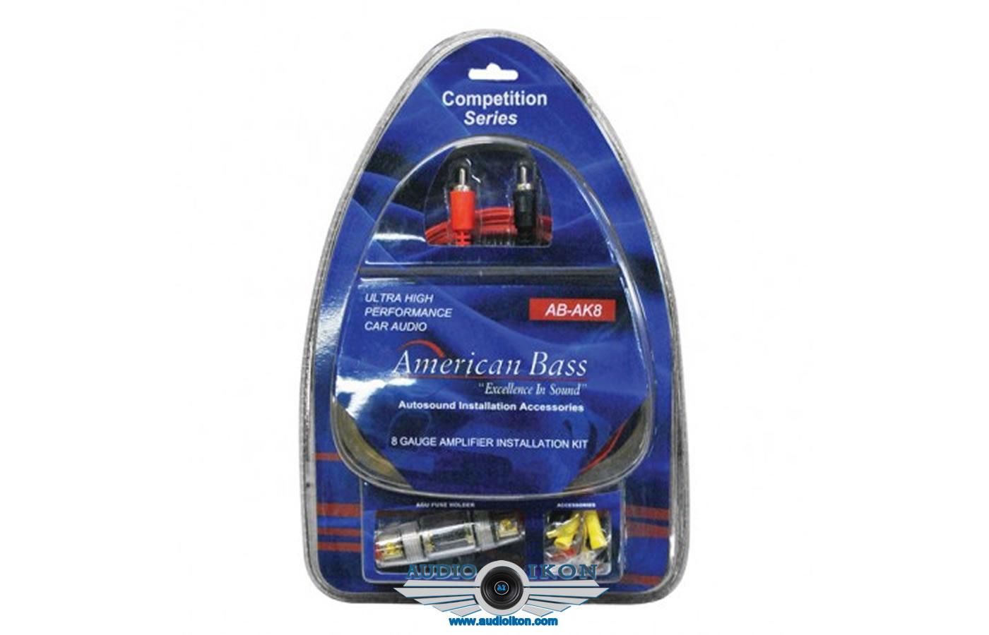 Bass Ak4 Amplifier Wiring Kit 4 Gauge American Bass Walmartcom