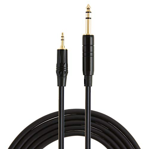 """2x 10ft Premium Stereo 6.35mm 1//4/"""" TRS Male to M Audio Cable Gold Plated Cord"""