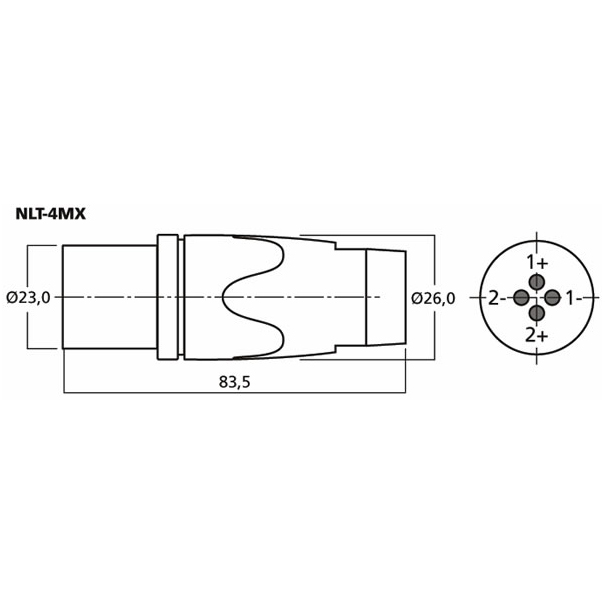 Neutrik NLT-4MX 4 Pole Metal Speakon Inline Jack