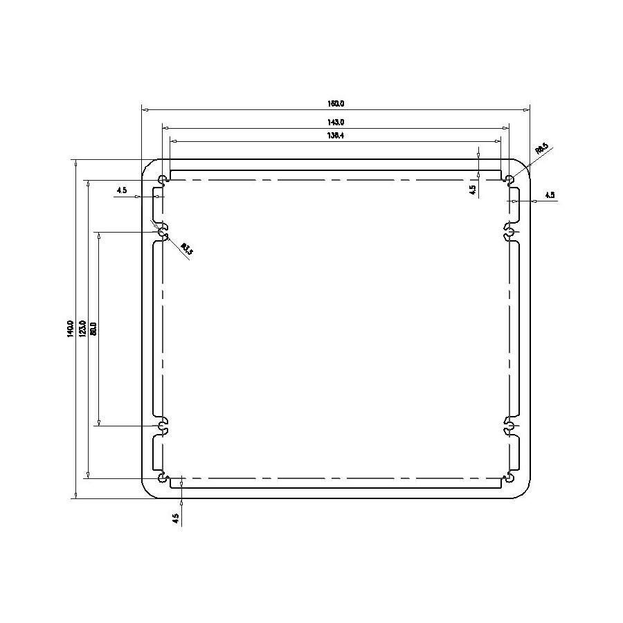 hight resolution of aluminium box for transformers 160x140x75mm