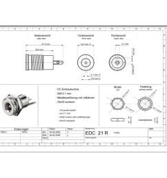 barrel connector panel jack dc 2 1mm central installation [ 900 x 900 Pixel ]