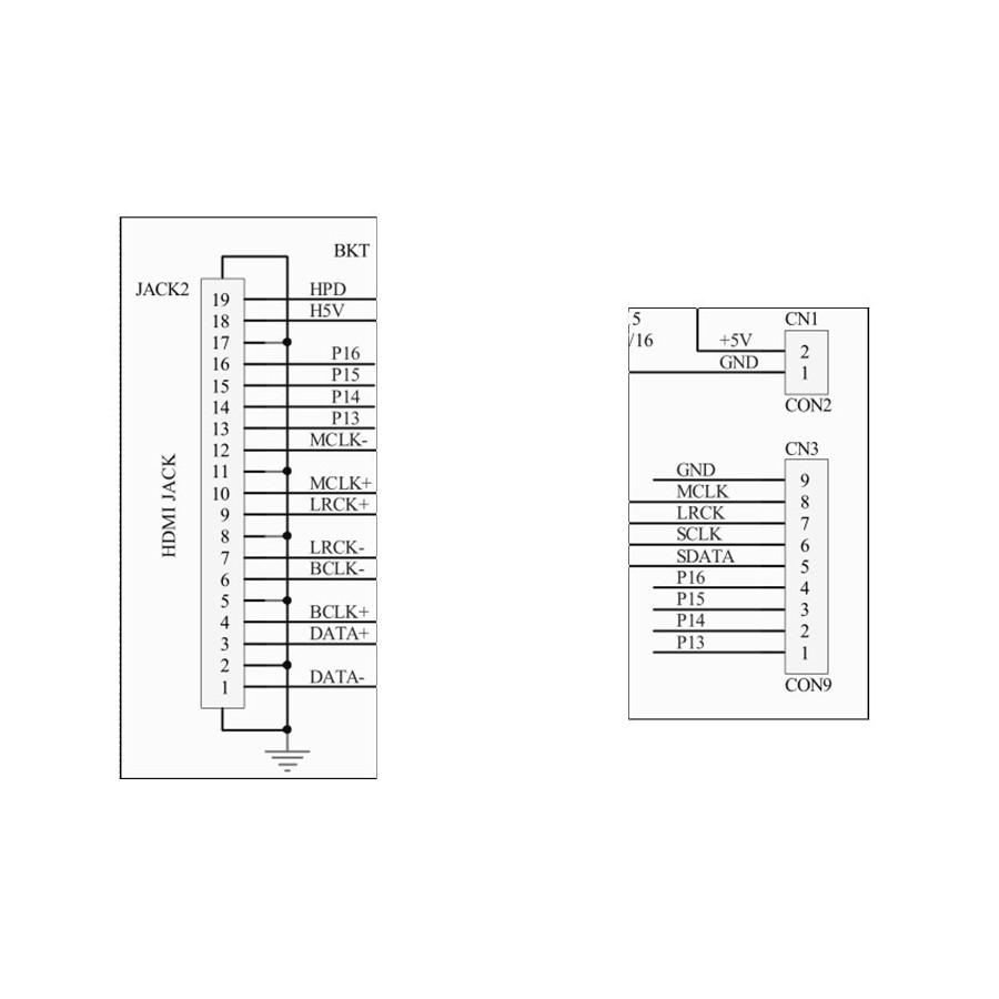 hight resolution of  hdmi to i2s module