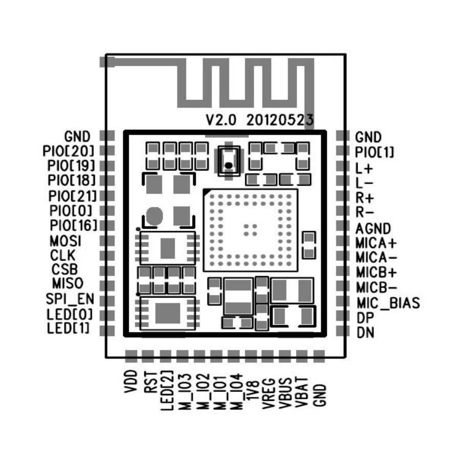 WONDOM DIY receptor module board aptX Bluetooth 4.0