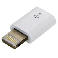 Micro USB to Lightning Adaptor White - Audiophonics