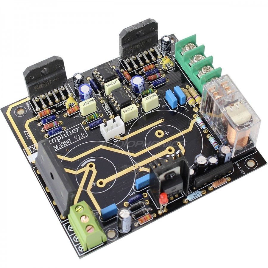 Lm Stereo Amplifier Board 2x68w 4 Ohm Audiophile