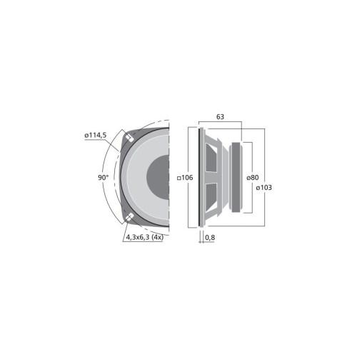 small resolution of  monacor sp 100 8 bass speaker hi fi 10cm
