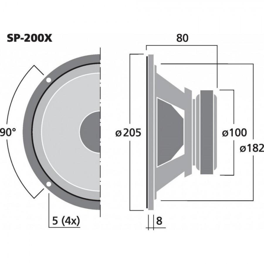 medium resolution of  monacor sp 200x haut parleur large bande bic ne hi fi