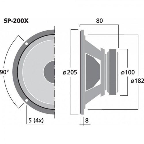 small resolution of  monacor sp 200x haut parleur large bande bic ne hi fi