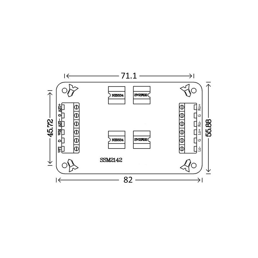 Module Kit differential balanced symetrizer SSM2142 stereo