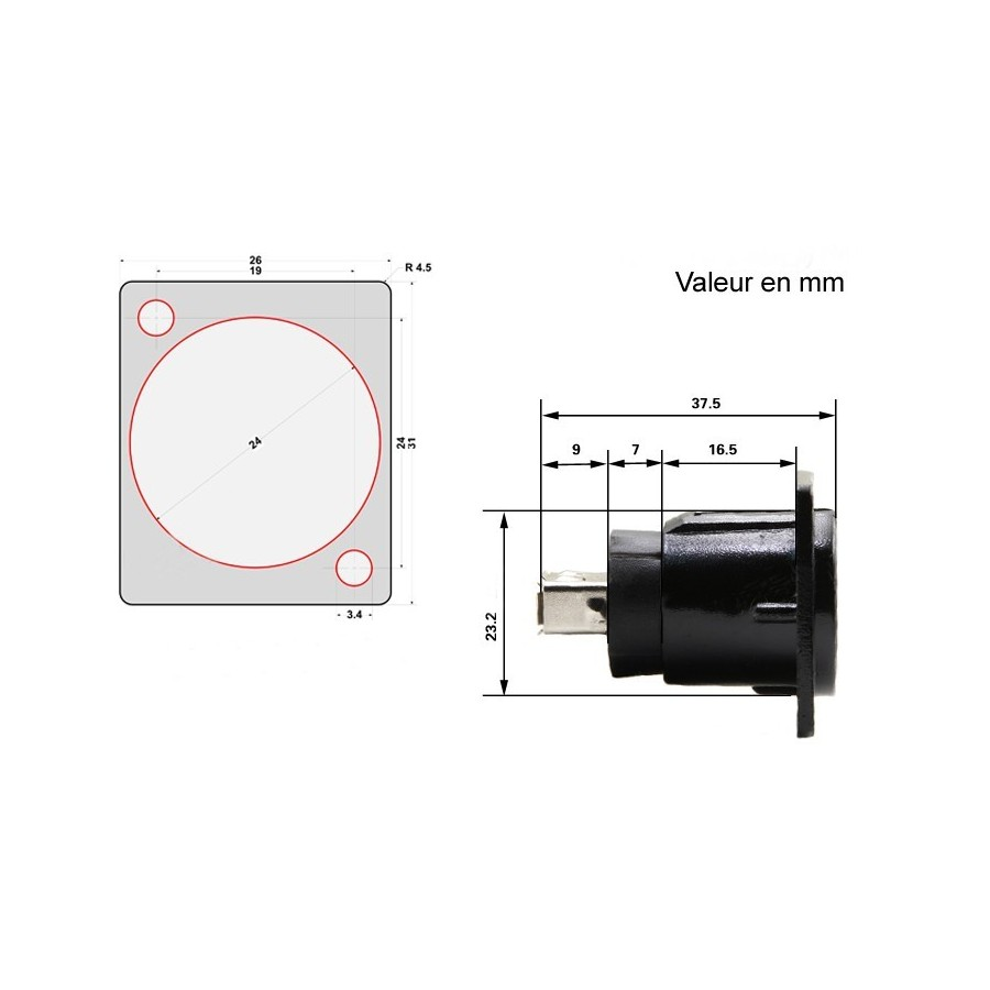 hight resolution of  usb a to b inlet panel mount black
