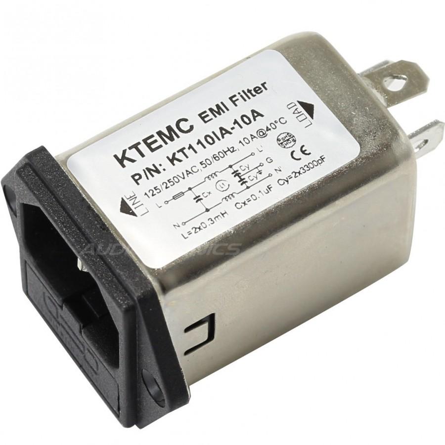 IEC Base EMI / RFI noise filter 230V 10A With Fuse Holder - Audiophonics