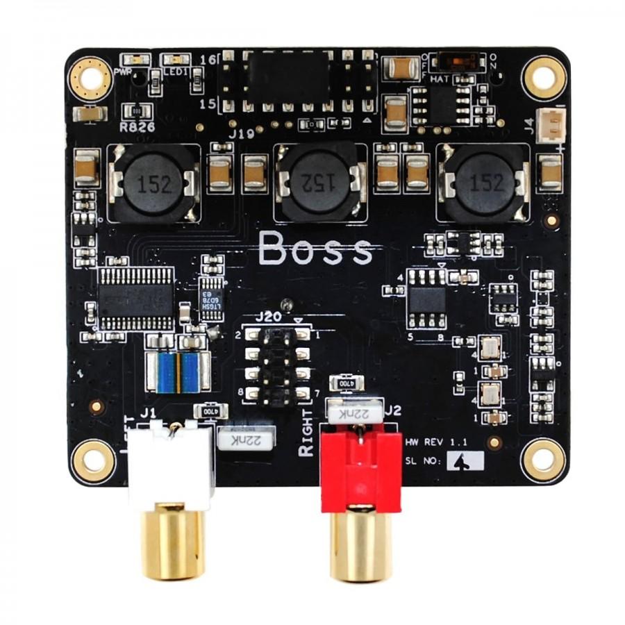 hight resolution of allo boss dac pcm5122 32bit 384khz with 2 clocks master clock i2s