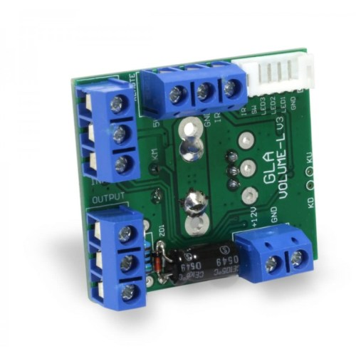 small resolution of  volume control module with potentiometer display and remote control