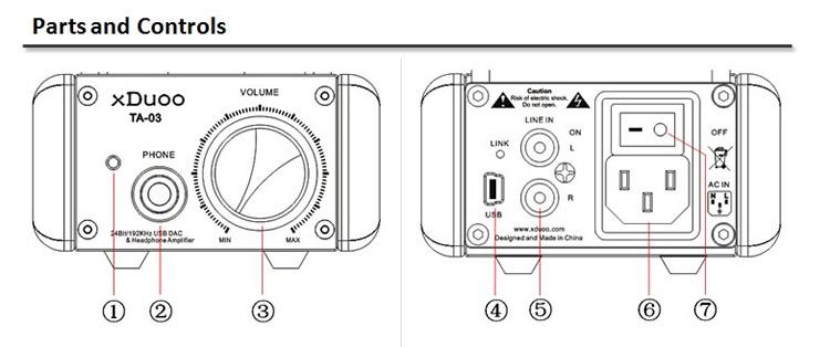 XDUOO TA-03 Tube Headphone Amplifier XMOS USB 24Bit/192kHz