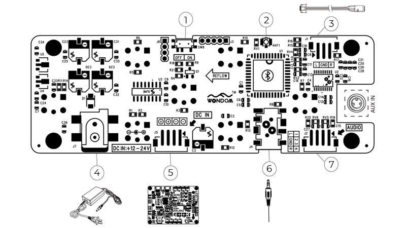 WONDOM BRB6P Bluetooth Receiver 4.0 aptX CSR8645 with