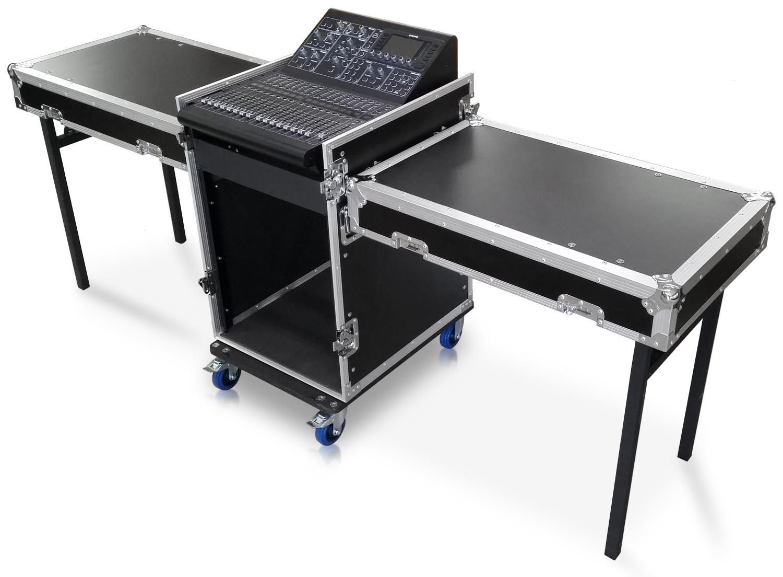 cudj p 22m d5 extra deep rack case with slant top mixer rails table top lids and deep doors 12u 16u copy