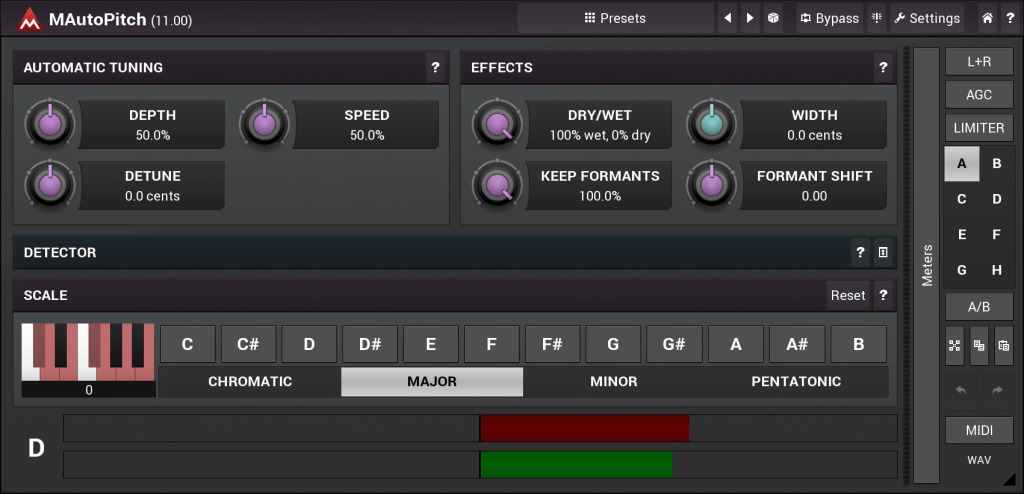 MAutoPitch (Pitch, Tool) • Audio Plugins for Free