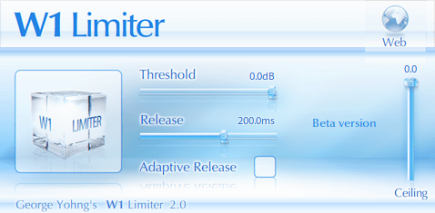 W1 Limiter (Compressor, Maximizer) • Audio Plugins for Free