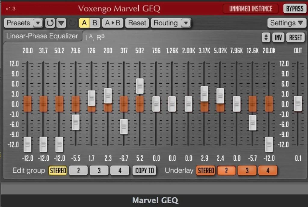 Voxengo Marvel GEQ (Equalizer) • Audio Plugins for Free
