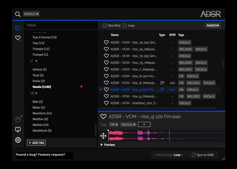 ADSR Sample Manager   Audio Plugins for Free