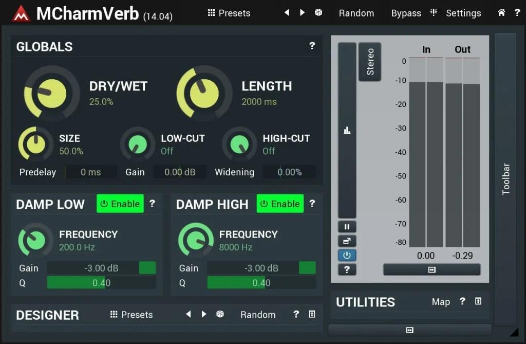 MCharmVerb | Audio Plugins for Free